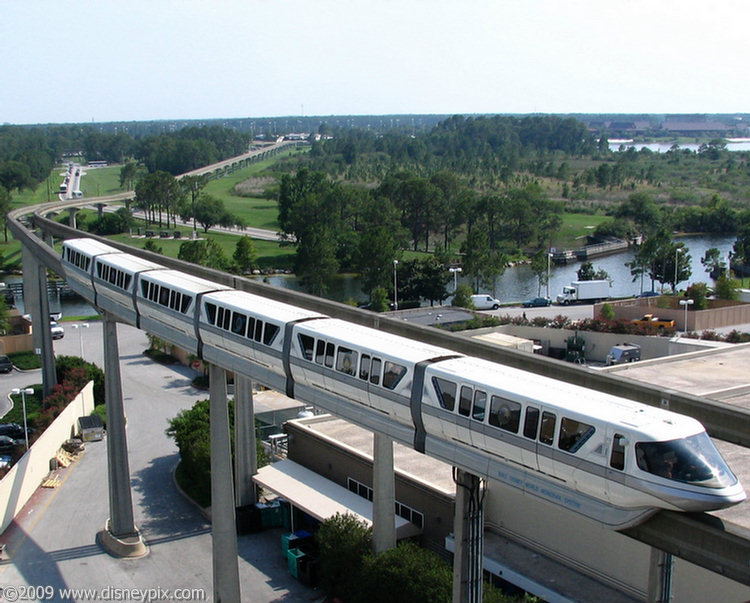 Monorail Silver Ready To Pass Through The Contemporary